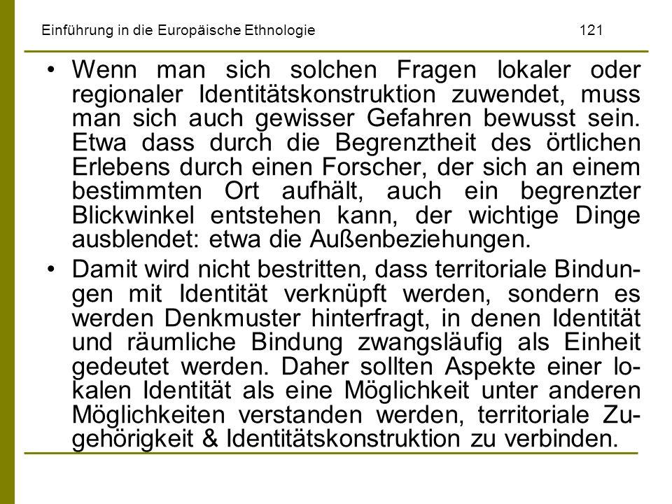 Einführung in die Europäische Ethnologie 121