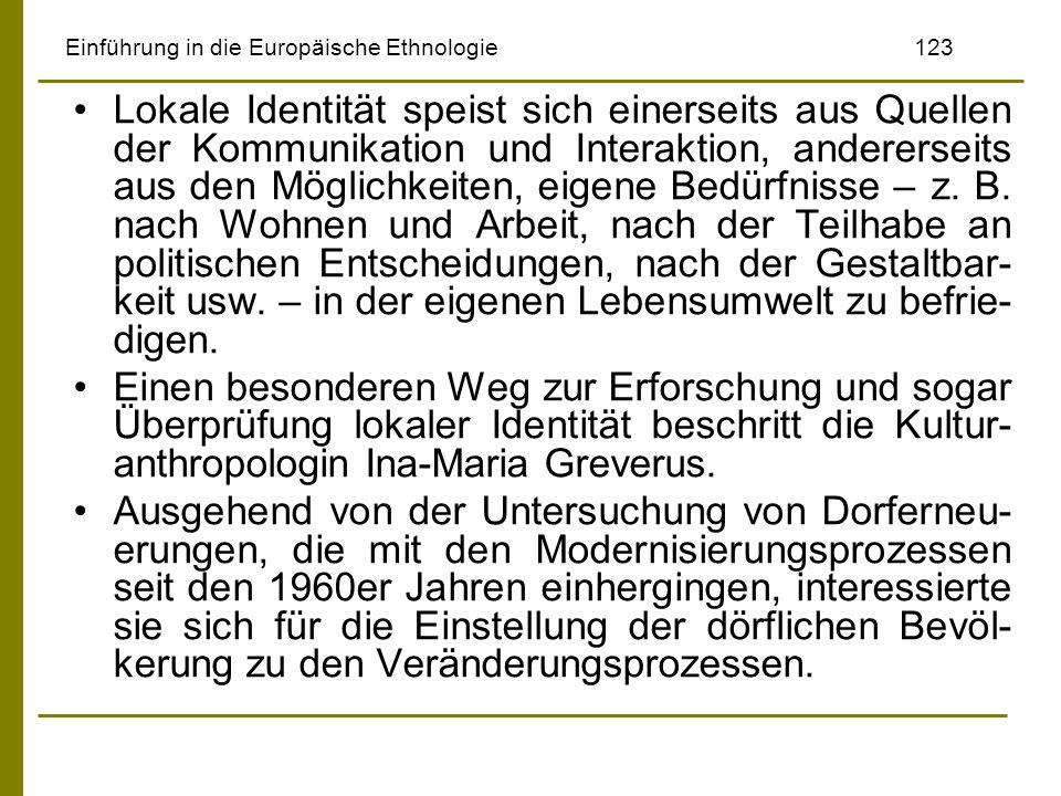 Einführung in die Europäische Ethnologie 123