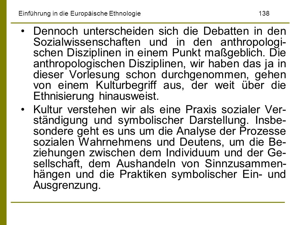 Einführung in die Europäische Ethnologie 138