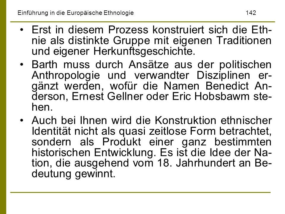 Einführung in die Europäische Ethnologie 142