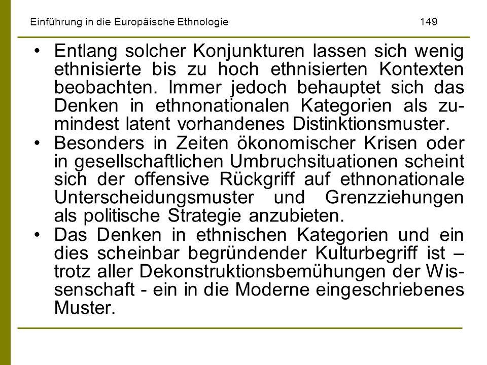 Einführung in die Europäische Ethnologie 149