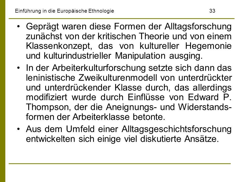 Einführung in die Europäische Ethnologie 33