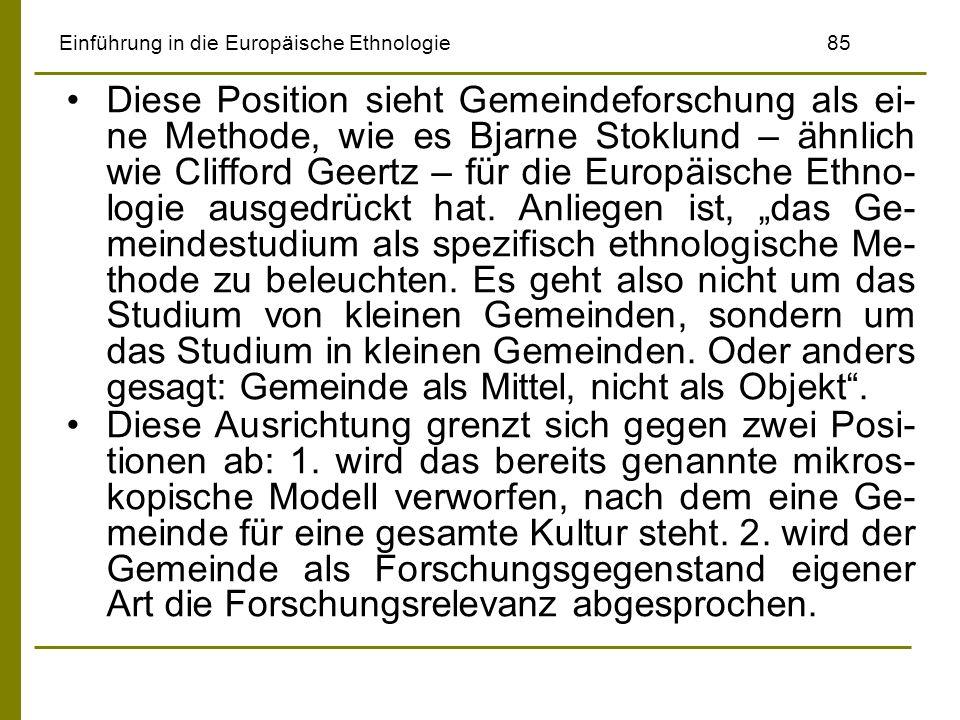 Einführung in die Europäische Ethnologie 85