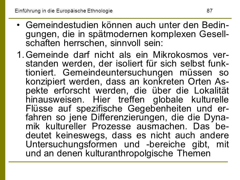 Einführung in die Europäische Ethnologie 87