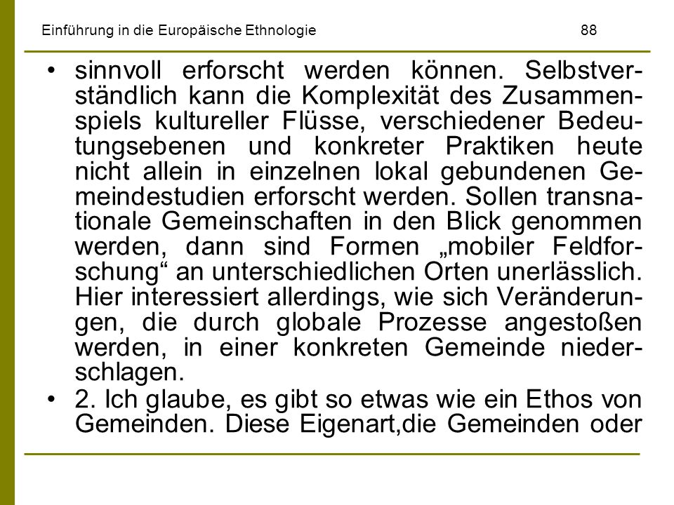 Einführung in die Europäische Ethnologie 88
