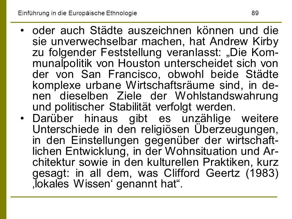 Einführung in die Europäische Ethnologie 89