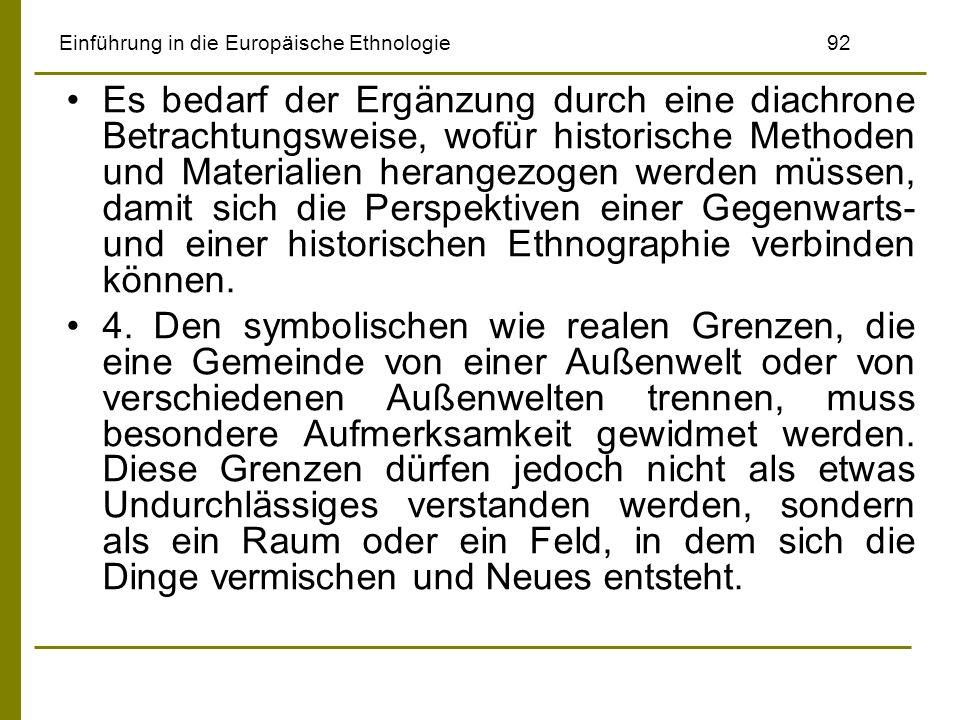 Einführung in die Europäische Ethnologie 92