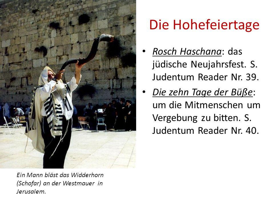 Die Hohefeiertage Rosch Haschana: das jüdische Neujahrsfest. S. Judentum Reader Nr. 39.