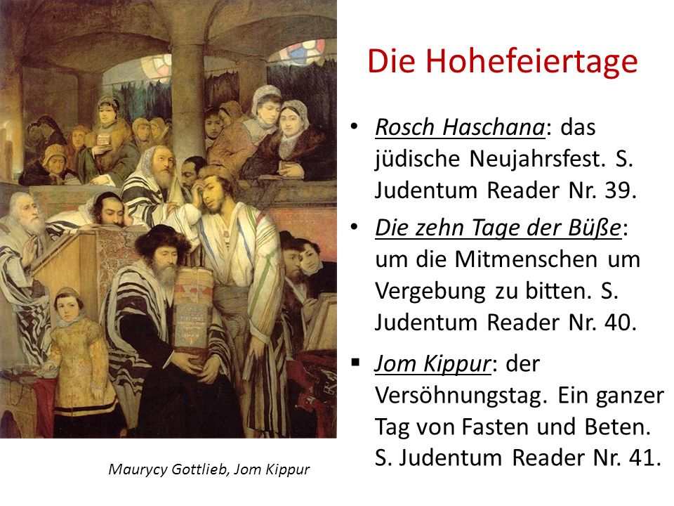 Maurycy Gottlieb, Jom Kippur