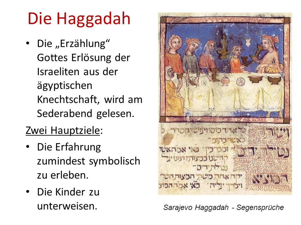 """Die Haggadah Die """"Erzählung Gottes Erlösung der Israeliten aus der ägyptischen Knechtschaft, wird am Sederabend gelesen."""