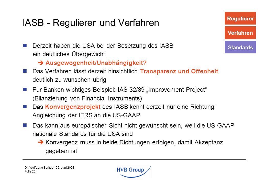 IASB - Regulierer und Verfahren