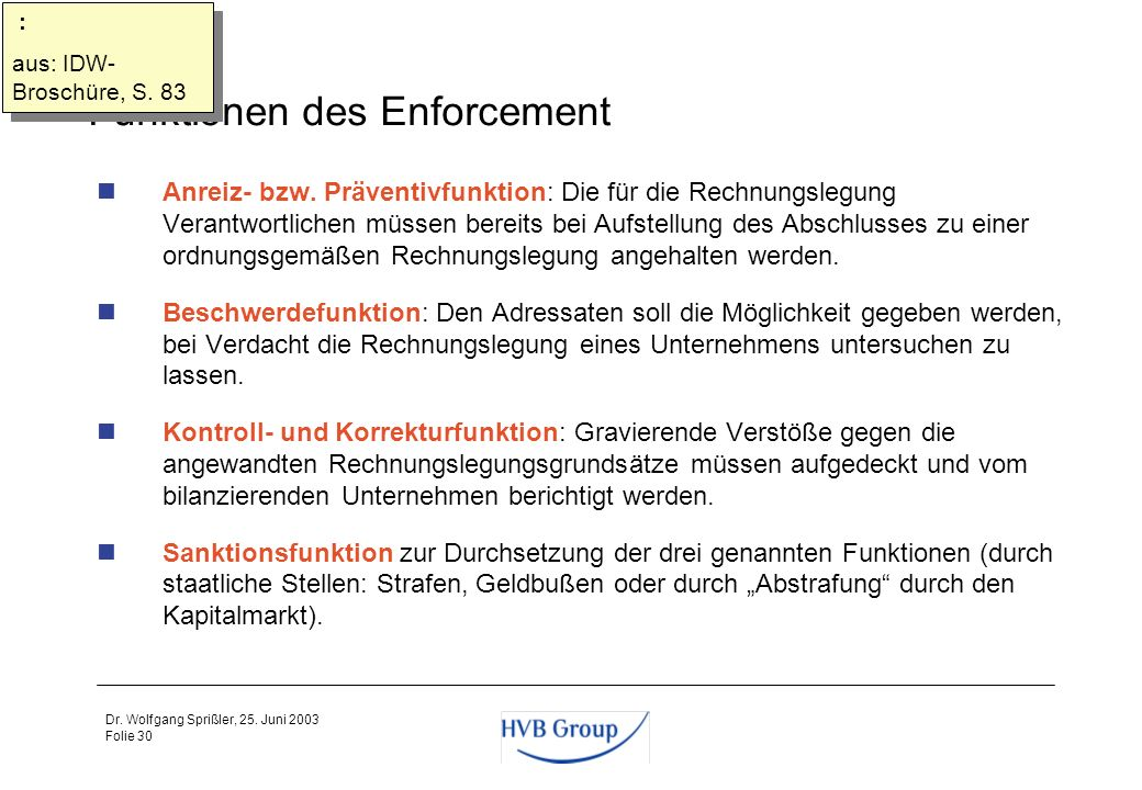Funktionen des Enforcement