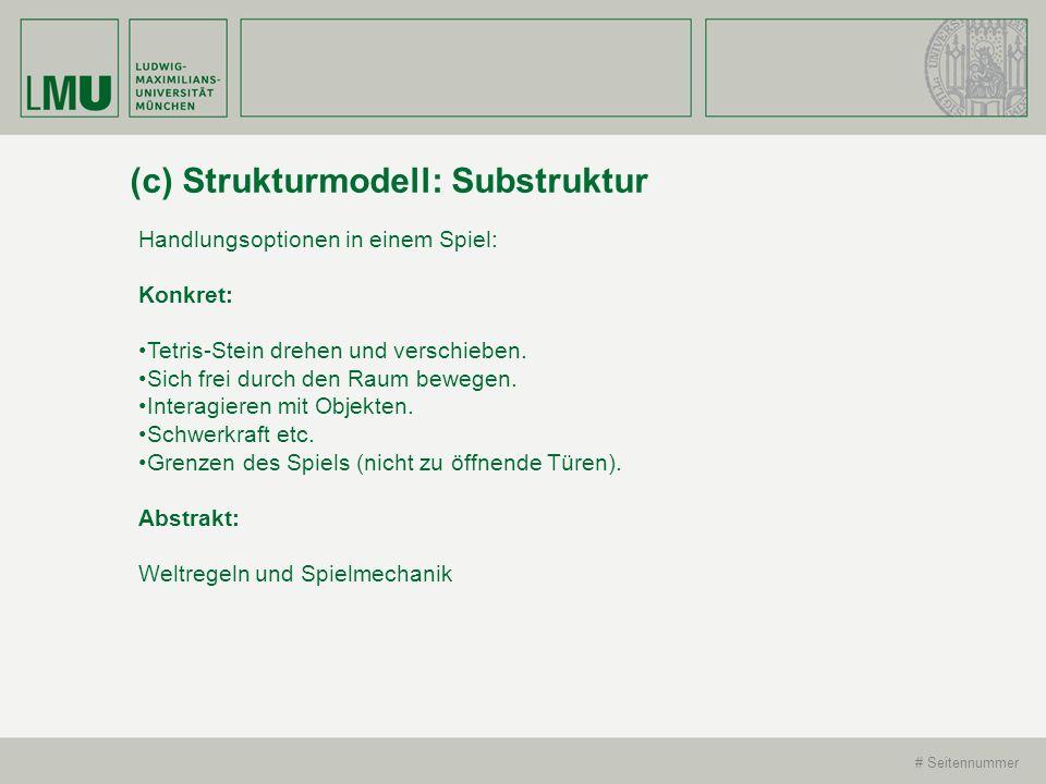 (c) Strukturmodell: Substruktur
