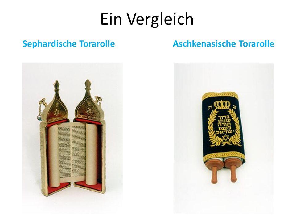 Ein Vergleich Sephardische Torarolle Aschkenasische Torarolle
