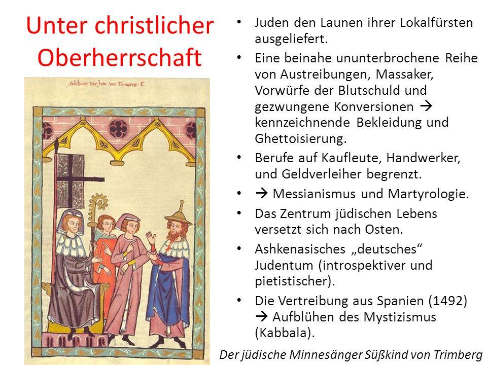 Unter christlicher Oberherrschaft