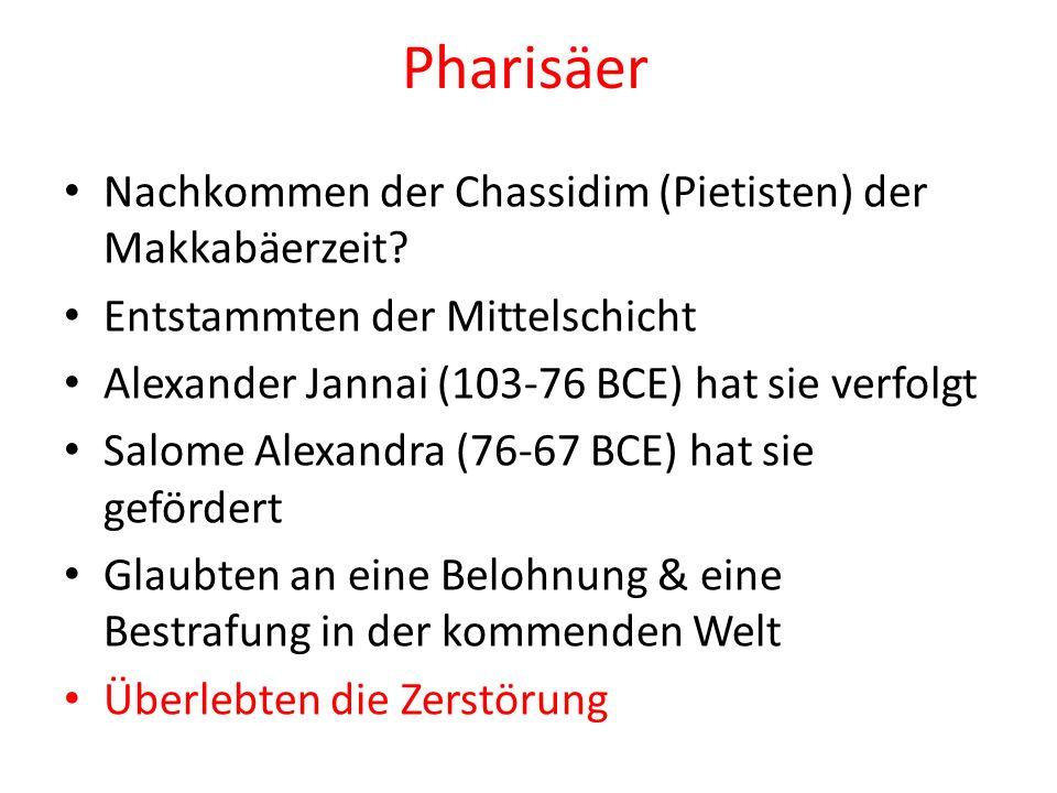 Pharisäer Nachkommen der Chassidim (Pietisten) der Makkabäerzeit