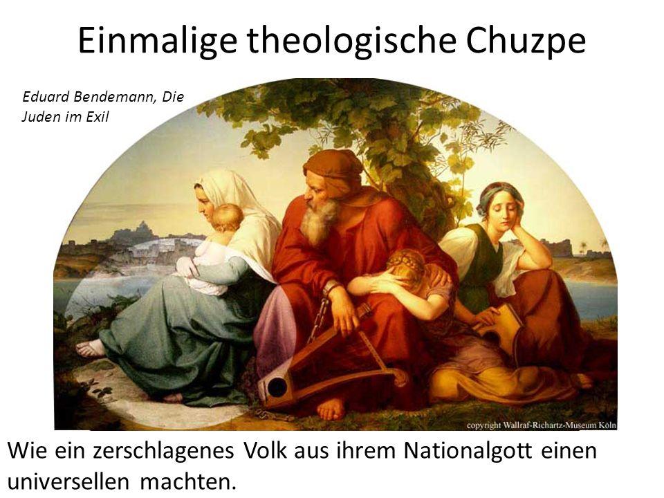 Einmalige theologische Chuzpe