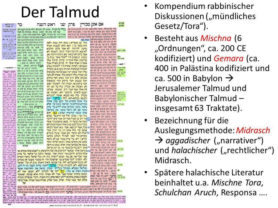 """Der Talmud Kompendium rabbinischer Diskussionen (""""mündliches Gesetz/Tora )."""