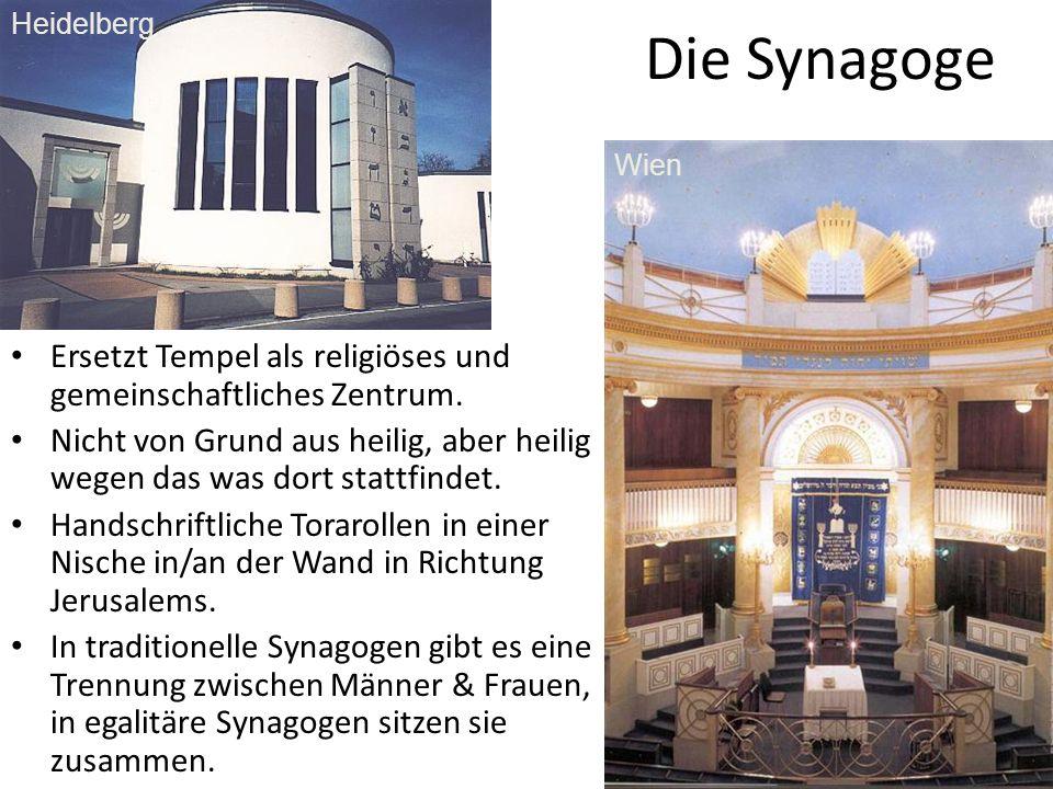 Heidelberg, Die Synagoge. Wien. Ersetzt Tempel als religiöses und gemeinschaftliches Zentrum.