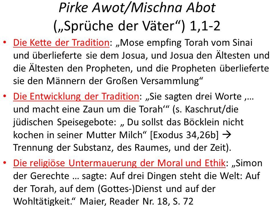 """Pirke Awot/Mischna Abot (""""Sprüche der Väter ) 1,1-2"""