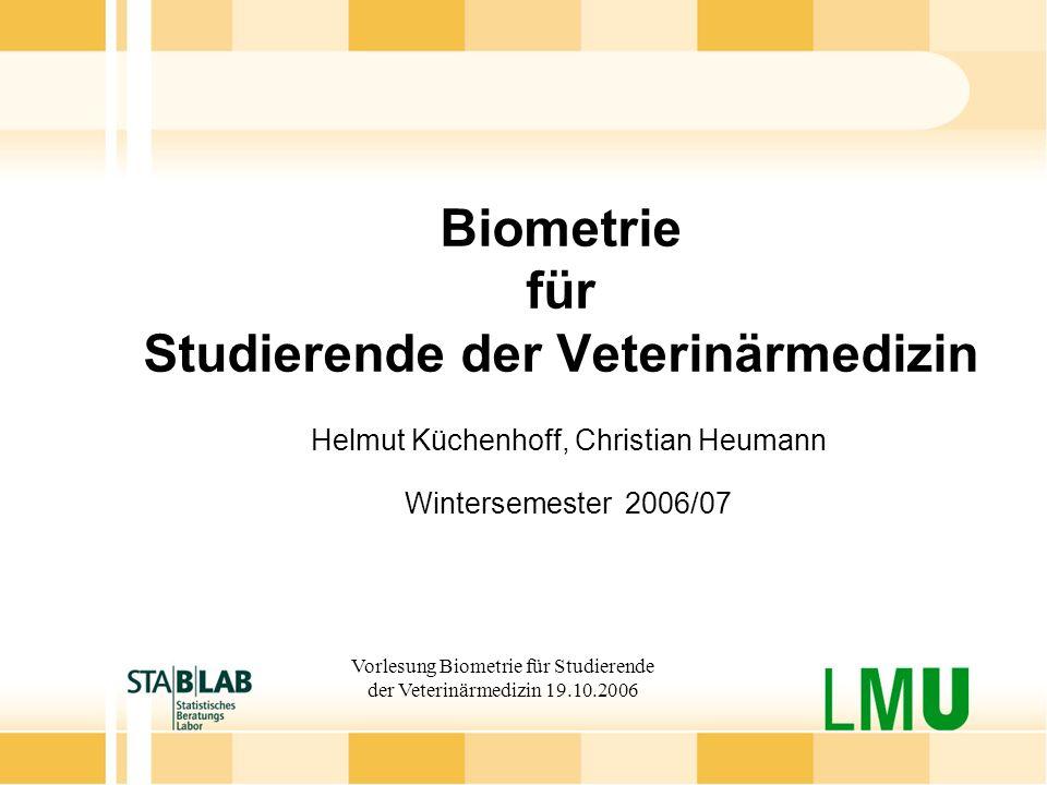 Biometrie für Studierende der Veterinärmedizin