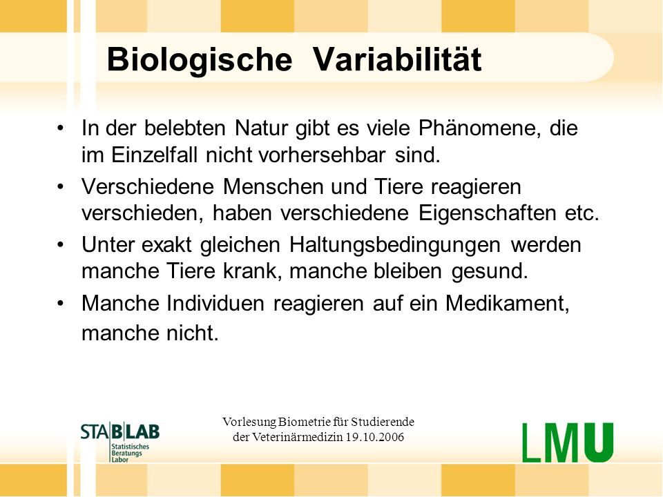 Biologische Variabilität
