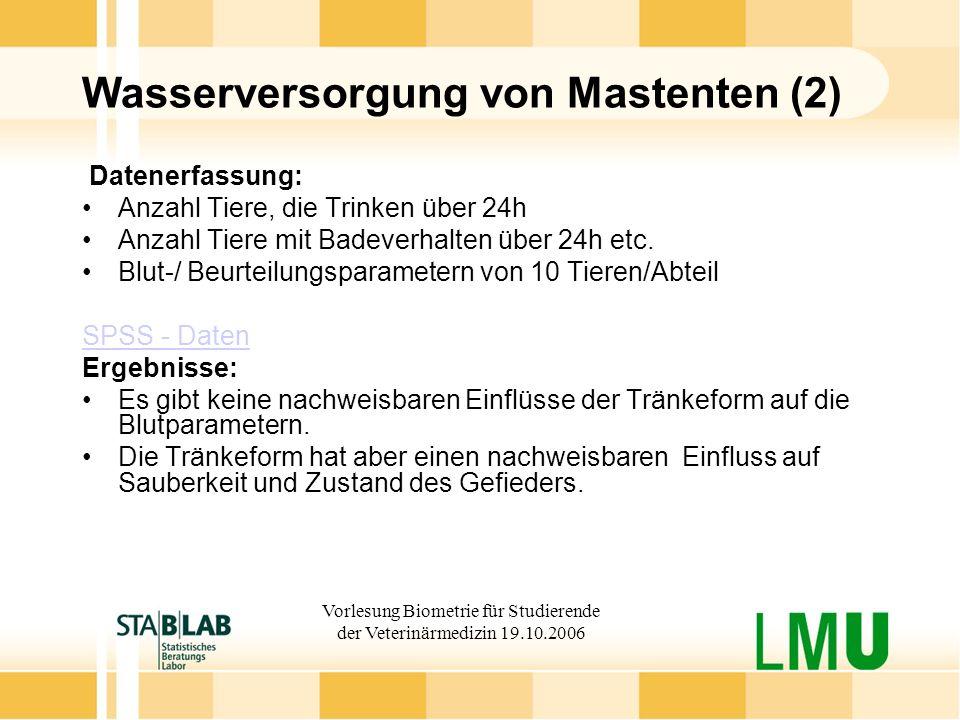 Wasserversorgung von Mastenten (2)