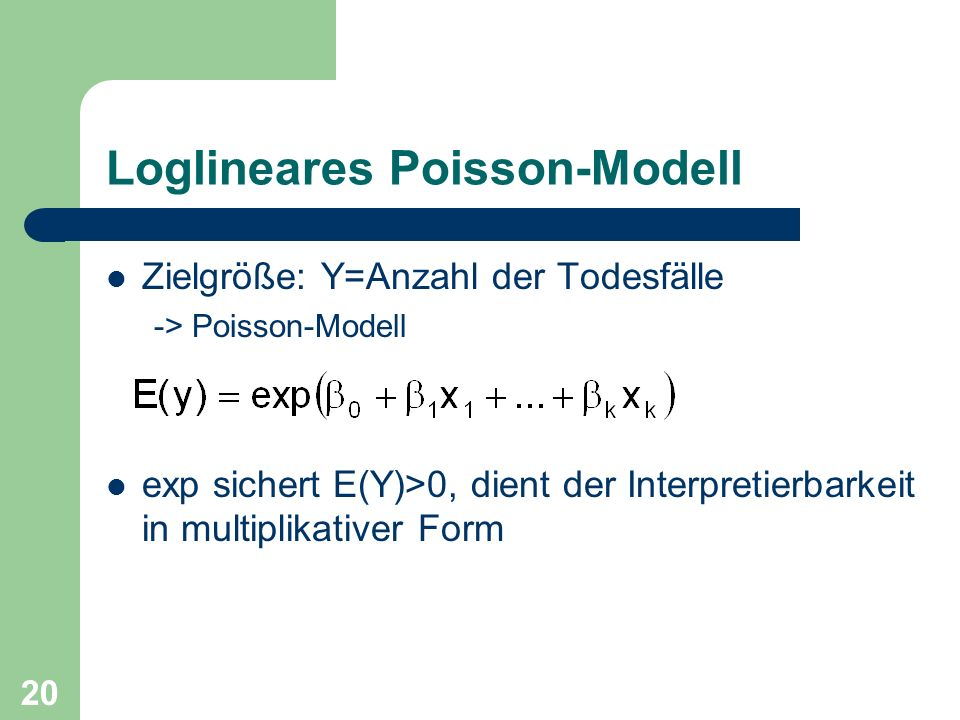 Loglineares Poisson-Modell