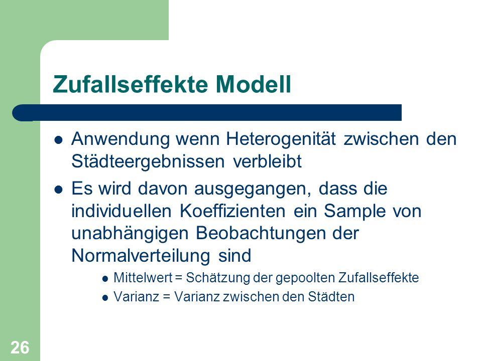 Zufallseffekte Modell