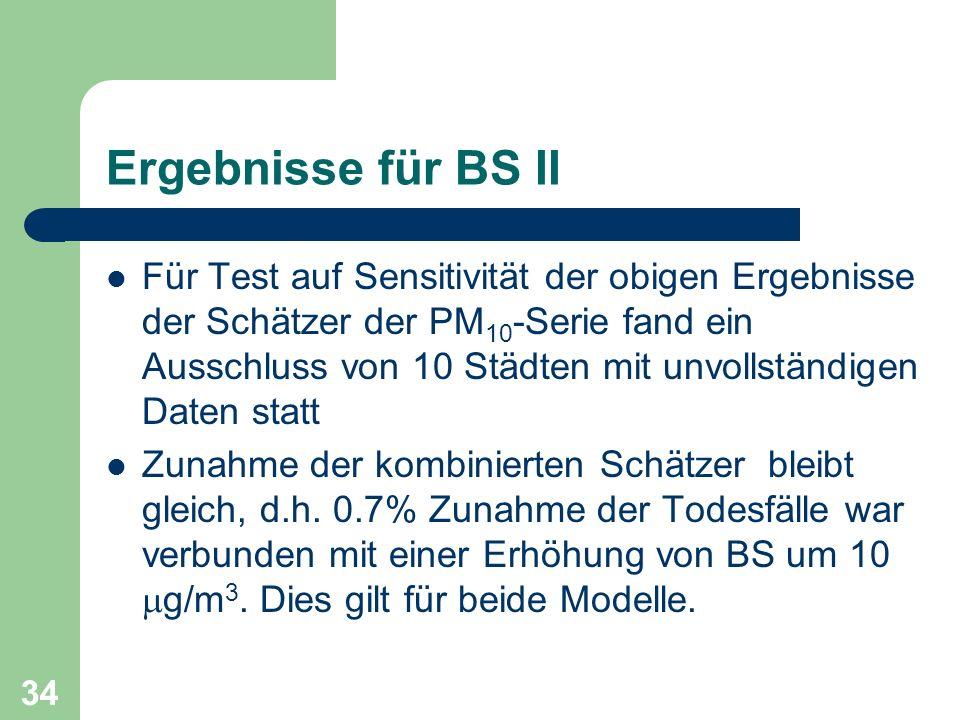 Ergebnisse für BS II