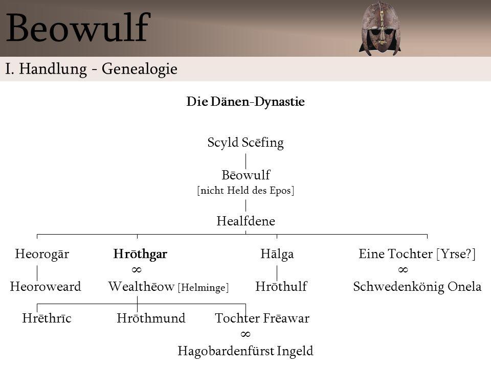 Beowulf I. Handlung - Genealogie Die Dänen-Dynastie Scyld Scēfing