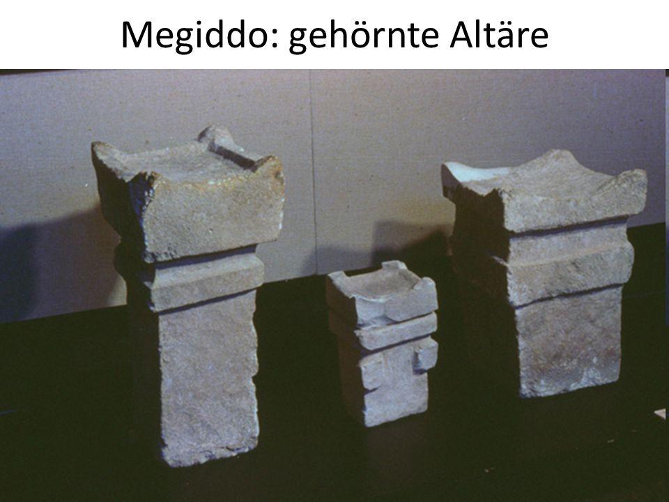 Megiddo: gehörnte Altäre