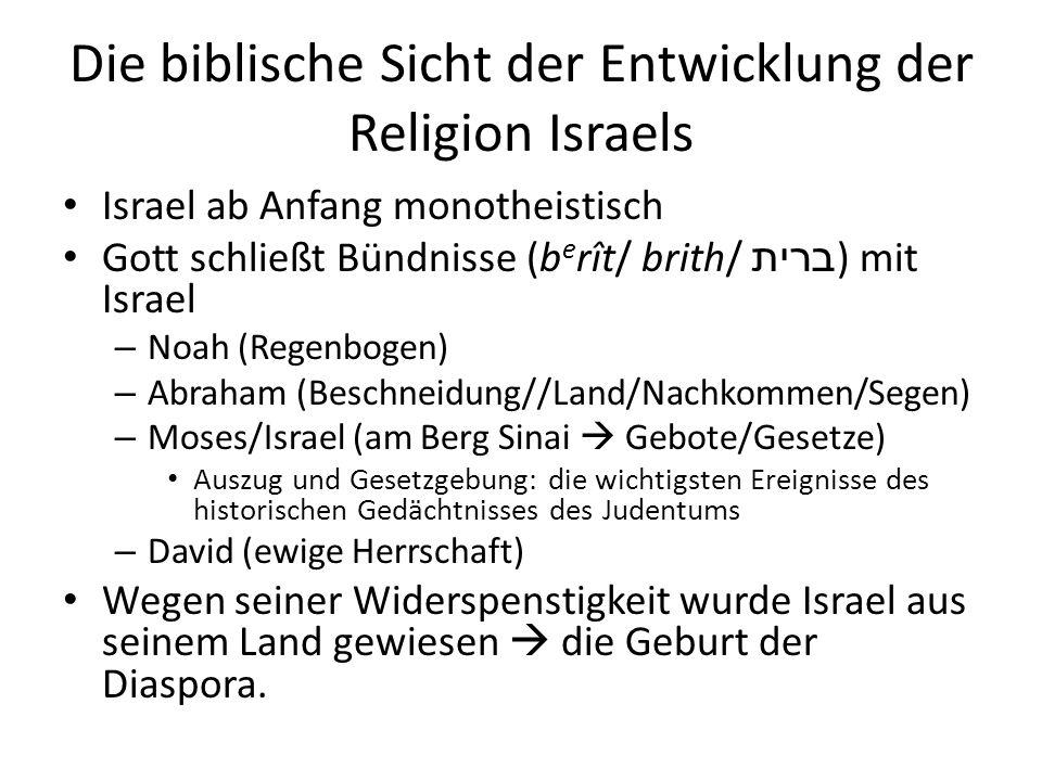 Die biblische Sicht der Entwicklung der Religion Israels
