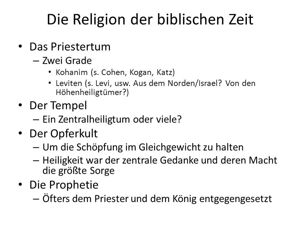 Die Religion der biblischen Zeit