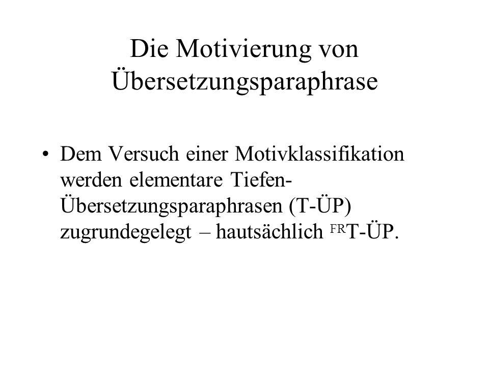 Die Motivierung von Übersetzungsparaphrase