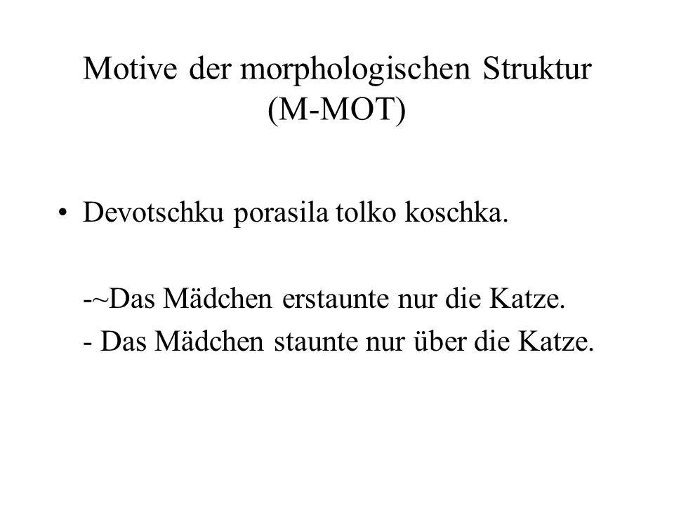 Motive der morphologischen Struktur (M-MOT)