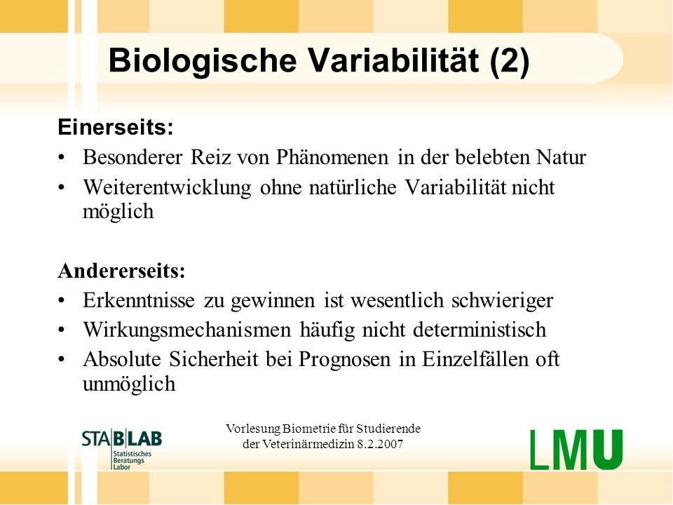 Biologische Variabilität (2)