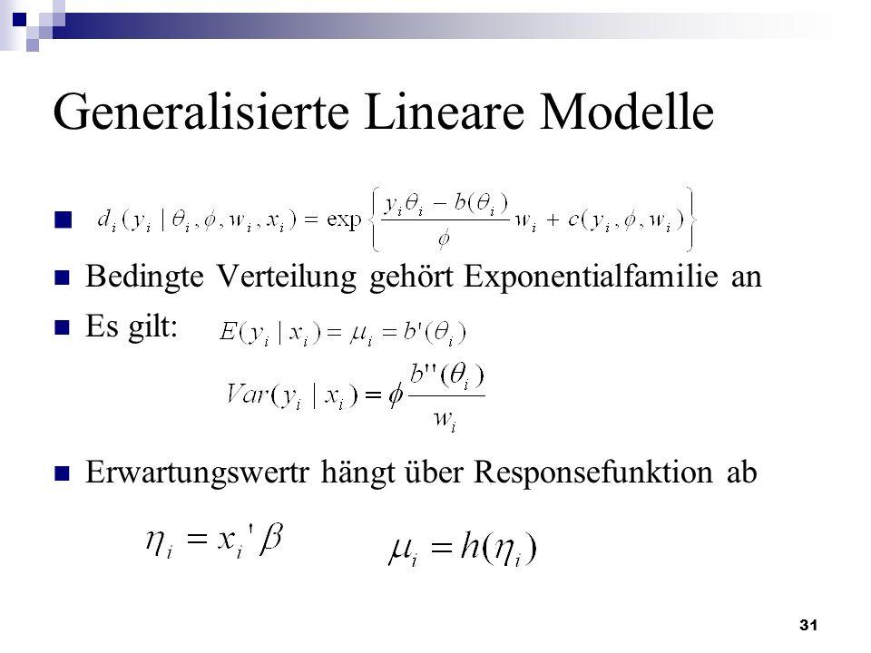 Generalisierte Lineare Modelle