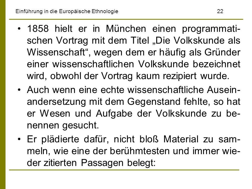 Einführung in die Europäische Ethnologie 22