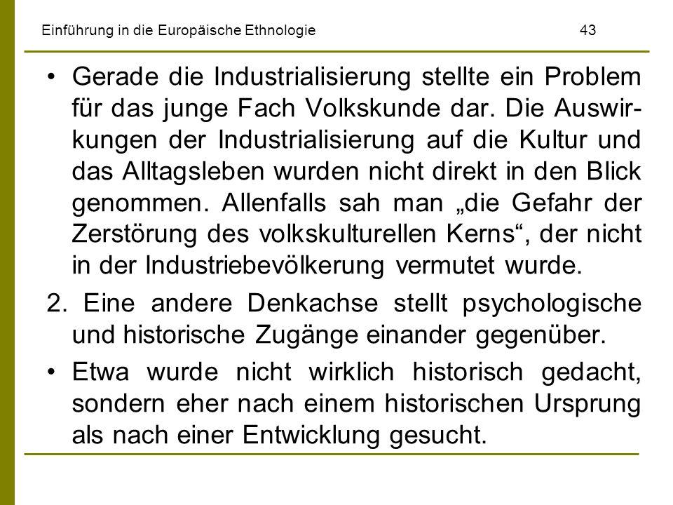 Einführung in die Europäische Ethnologie 43