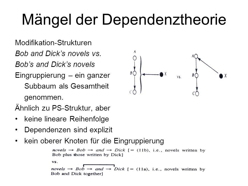 Mängel der Dependenztheorie