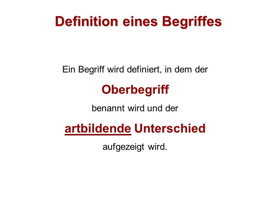 Definition eines Begriffes