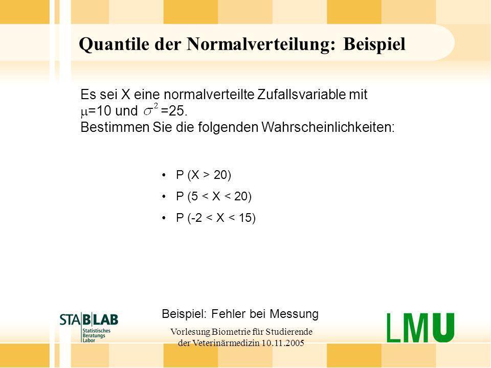 Quantile der Normalverteilung: Beispiel