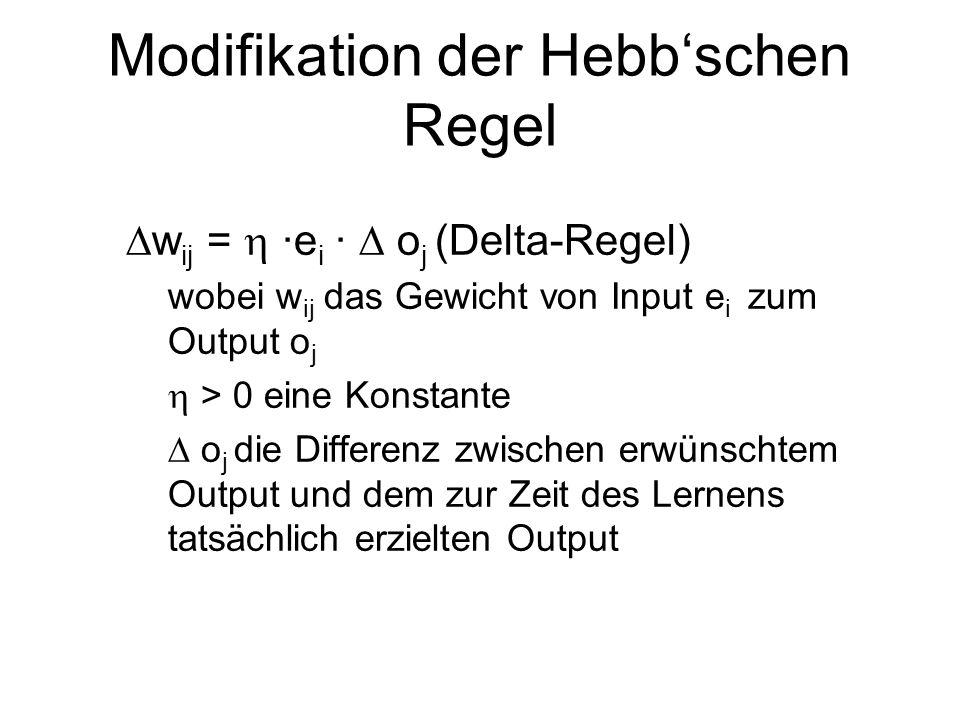Modifikation der Hebb'schen Regel
