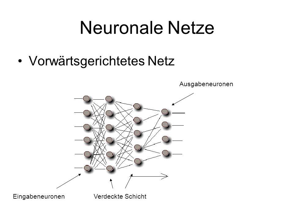 Neuronale Netze Vorwärtsgerichtetes Netz Ausgabeneuronen