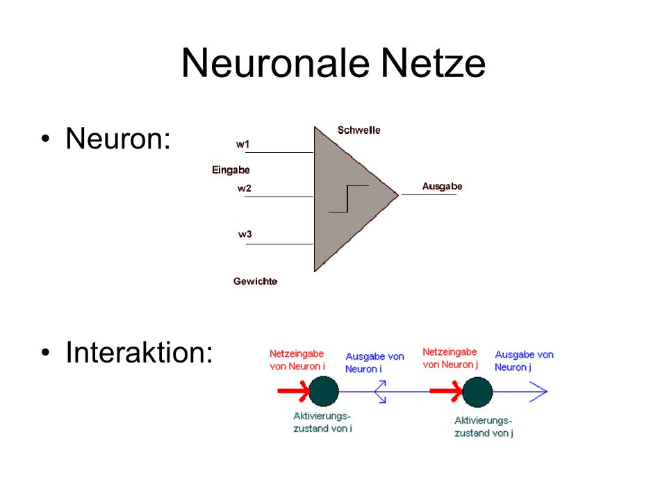 Neuronale Netze Neuron: Interaktion:
