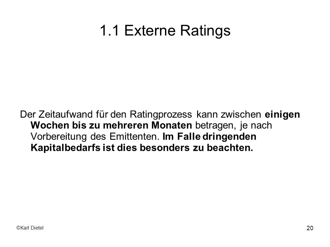 1.1 Externe Ratings