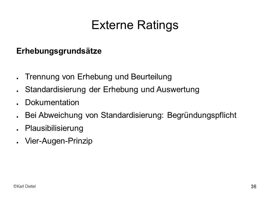 Externe Ratings Erhebungsgrundsätze