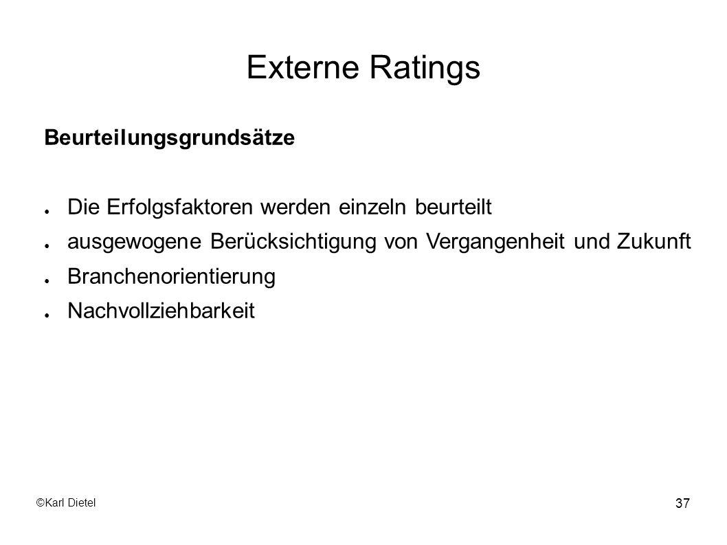 Externe Ratings Beurteilungsgrundsätze