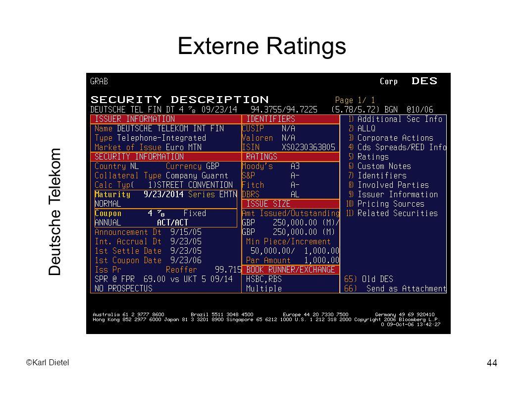 Externe Ratings Deutsche Telekom ©Karl Dietel